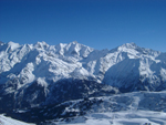 Mount Blanc from les Contamines