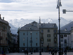 The mountains dominate Aosta
