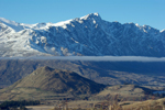 View back toward Queenstown from the Treble Cone