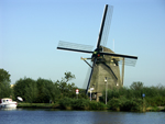 Windmill along the Amstel River